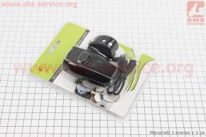 Фонарь передний 1 диод 400 lumen, Li-ion 3.7V 1500mAh зарядка от USB, влагозащитный, черный JY-7027 для велосипедов