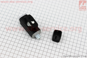 Фонарь передний 1 диод 180 lumen алюминиевый, Li-ion 3.7V 1200mAh зарядка от USB, влагозащитный, черный MC-QD001 для велосипедов