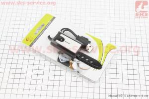 Фонарь передний 3 диода, Li-ion 3.7V 300mAh зарядка от USB, влагозащитний, черно-серый JY-7015 для велосипедов