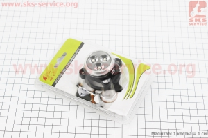 Фонарь передний 3 диода 120 lumen, Li-ion 3.7V 650mAh зарядка от USB, влагозащитний, JY-6028F для велосипедов