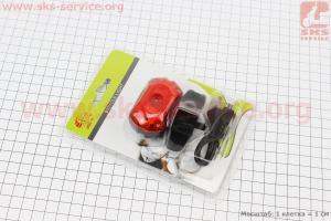 Фонарь задний 1 диод 25 lumen, Li-ion 3.7V 700mAh зарядка от USB, влагозащитный, JY-6097T для велосипедов