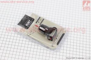 Фонарь задний 1 диод 15 lumen, Li-ion 3.7V 220mAh зарядка от USB, влагозащитный, черный для велосипедов