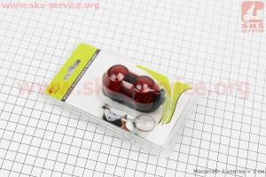 Фонарь задний 2 диода, зарядка от USB, влагозащитний, JY-6002 для велосипедов