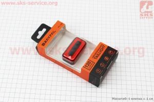 Фонарь задний 120 lumen алюминиевый, Li-ion 3.7V 500mAh зарядка от USB, датчик света, влагозащитный, RPL-2286 для велосипедов