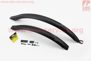 Щитки пластмассовые 27,5 - 29 длинные к-кт, черные SMG-173 для велосипедов