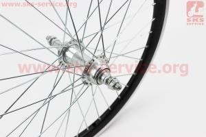 """Колесо 20"""" заднее МТВ """"капля"""" обод алюминиевый, втулка 14Gх36Н в сборе, под вольнобег, крепл. гайка """"JITONG"""" для велосипеда"""