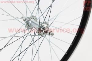 """Колесо 24"""" переднее МТВ """"капля"""" обод алюминиевый, втулка 14Gх36Н в сборе, крепл. гайка """"SCORPION"""" для велосипеда"""