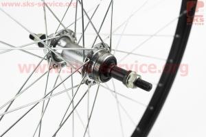 """Колесо 26"""" заднее МТВ обод алюминиевый, втулка 14Gх36Н в сборе, под вольнобег, крепл. гайка, черное для велосипеда"""