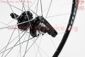 """Колесо 26"""" заднее MTB """"капля"""" обод и втулка алюминиевые 14Gx36H в сборе, под вольнобег, под диск. тормоз, крепл. эксцентрик """"TITAN"""" для велосипеда"""