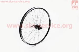 """Колесо 26"""" заднее MTB """"капля"""" обод и втулка алюминиевые 14Gx36H в сборе, под кассету 8-9зв, диск. тормоз, крепл. эксцентрик """"TITAN"""" для велосипеда"""