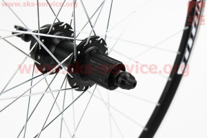 """Колесо 26"""" заднее MTB """"капля"""" обод и втулка алюминиевые 14Gx36H в сборе, пром-подшипники 6200 2RS, под кассету 8-9зв, диск. тормоз, крепл. эксцентрик для велосипеда"""