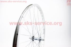 """Колесо 26"""" переднее MTB обод алюминиевый, втулка 14Gx36H в сборе, крепл. гайка для велосипеда"""