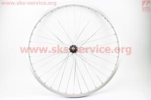 Колесо 26 переднее MTB обод алюминиевый, втулка 14Gx36H в сборе, крепл. гайка для велосипеда