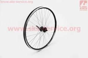 """Колесо 26"""" переднее MTB """"капля"""" обод и втулка алюминиевые 14Gx36H в сборе, под диск. тормоз, крепл. эксцентрик """"TITAN"""" для велосипеда"""