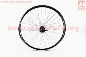 """Колесо 26 переднее MTB капля"""" обод и втулка алюминиевые 14Gx36H в сборе, под диск. тормоз, крепл. эксцентрик """"TITAN"""" для велосипеда"""