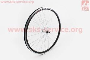 """Колесо 26"""" переднее MTB """"капля"""" обод и втулка алюминиевые 14Gx36H в сборе, пром-подшипники 6000 2RS, крепл. гайка """"SCORPION"""" для велосипеда"""