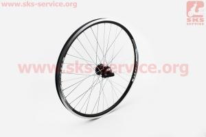 """Колесо 26"""" переднее MTB """"капля"""" обод и втулка алюминиевые 14Gx36H в сборе, пром-подшипники 6200 2RS, под диск. тормоз, крепл. эксцентрик """"TITAN"""" для велосипеда"""