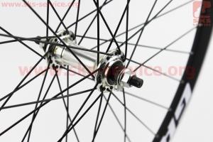 """Колесо 26"""" переднее MTB """"капля"""" обод и втулка алюминиевые 14Gx36H в сборе, крепл. гайка """"GRAVITY"""" для велосипеда"""