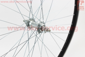 """Колесо 28"""" переднее """"капля"""" обод алюминиевый, втулка 14Gх36Н в сборе, крепл. гайка """"GENERAL"""" для велосипеда"""