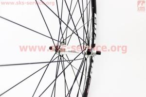 """Колесо 28"""" переднее """"капля"""" обод и втулка алюминиевые 14Gх36Н в сборе, крепл. гайка """"GRAVITY"""" для велосипеда"""