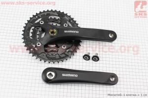 Шатун (крепление квадрат) 170мм, 44.32.22T к-кт МТВ, алюминиевые, черные ACERA FC-Т3010 для велосипеда