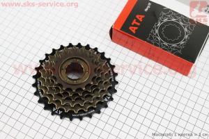 Вольнобег 6зв. 28,24,21,18,16,14Т, черно-бронзовый KDF-601 для велосипеда