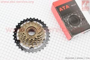 Вольнобег 6зв. 32,24,20,18,16,14Т, index, черно-бронзовый KDF-631 для велосипеда
