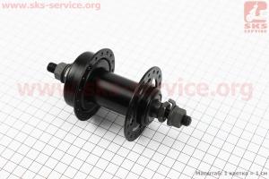 Втулка передняя МТВ 14Gx36H, под диск. тормоз, крепл. гайка, черная SF-A25 для велосипеда