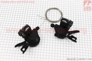 Переключатель манетка левый (3ск)+правый (10ск) к-кт, черные DEORE SL-M610 для велосипеда