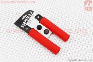Рукоятки руля 130мм, силиконовые к-кт, красные SBG-S16180 для велосипеда