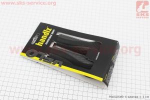Рукоятки руля 130мм, эргономические к-кт, черно-серые VLG-1670D2 для велосипеда