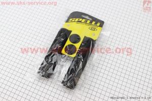 Рукоятки руля 130мм с зажимом Lock с двух сторон, неопреновые к-кт, черные SBG-672 для велосипеда