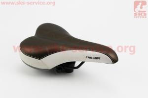 Сиденье на MTB, коричнево-белое CROSSRIDE N159 для велосипеда