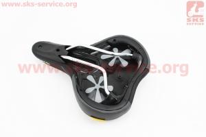 Сиденье на МТВ, черное PLUSH COMFORT VL-6221 для велосипеда