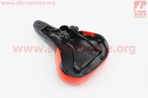 Сиденье на MTB, черно-красное AVY-6753 для велосипеда