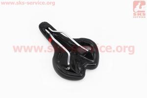 Сиденье на MTB, черно-красное SPORT VL-4218 для велосипеда