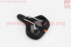 Сиденье на MTB, черно-оранжевое PLUSH VL-6395 для велосипеда