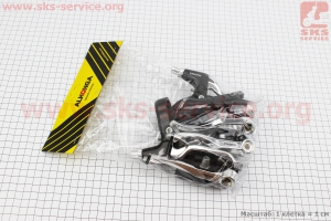 Тормоз V-brake задний+передний в сборе 110мм, рычаги+троса, HJ-620A6+HJ-288ADV для велосипеда