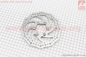 Тормозной диск 140мм, под гайку, тип 2 для велосипеда