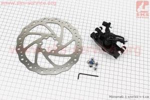 Тормоз дисковый передний (адаптер F160/R140мм) + тормозной диск 160мм, под 6 болтов, к-кт ADC-01 для велосипеда