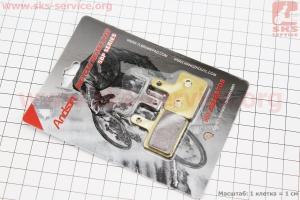 Тормозные колодки диск. тормоз к-кт (Shimano BR-M416,575,525,515,485,486,445,446), на медной основе (65%), YL-1001 для велосипеда