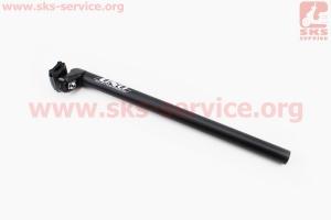 Труба сидения на МТВ 25,0х400мм, алюминиевая, черная SP-602 для велосипеда