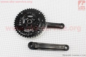 """Шатуны """"квадрат"""" 170мм, 42.34.24T МТВ, черные GS-P321 для велосипеда"""