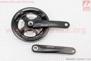 Шатуны квадрат 170мм, 42.34.24T MTB, алюминиевые, черные TA-CM68 для велосипеда