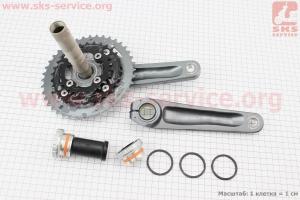 """Шатуны """"Hollowtech II"""" 170мм, 40.30.22T МТВ, интегрированная ось 24мм, алюминиевые, серые ALIVIO FC-M4050 для велосипеда"""