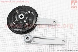 """Шатун (крепление """"квадрат"""") 175мм, 40.30.22T к-кт МТВ, алюминиевые, серо-черные ACERA FC-M3000 для велосипеда"""