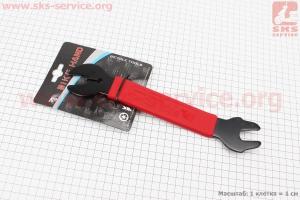 Ключ снятия педалей 15мм и гаек 16/17мм, YC-156A для велосипеда