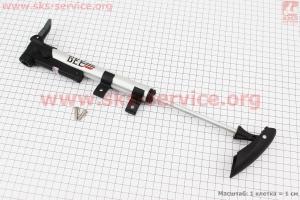 Насос МТВ алюминиевый с узким манометром, Т-ручкой, ZF 010 для велосипеда
