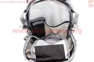 Рюкзак влагозащитный 20 литр., с отсеком для шлема, чехлом от дождя, вентилируемые накладки на спину, светоотражающие полосы, черный COMFORT SBP-059