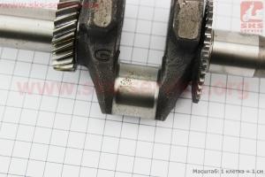Коленвал под резьбу М16 L=275мм 168F/170F УЦЕНКА (ржавчина на шейке коленвала, см. фото) для мотоблока